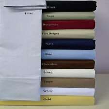 New Best US Bedding Collection 1000TC Egyptian Cotton Twin Size All Solid Colors