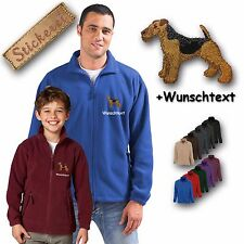Cosy Fleece Jacket Embroidery Dog Welsh Terrier +Desired text