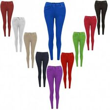 New Skinny Womens Ladies Jeans Stretchy Jeggings Fit Coloured Trousers Size 8 20