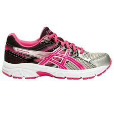Asics Gel Contend-3 GIRL'S RUNNING SHOES, GREY/BLACK/PINK - Size US 5, 6 Or 7