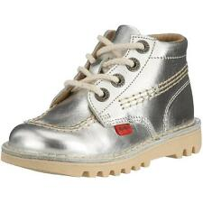 Kickers Kick Hi Infant Silver Leather Ankle Boots