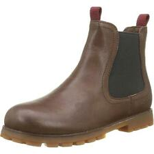 Camper Compas Medium Brown Leather Chelsea Boots