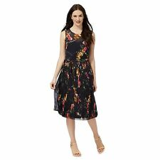 Rjr.John Rocha Womens Navy Floral Print Pleated Dress From Debenhams