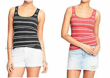 "NWT Old Navy Women's ""Perfect Fit"" Fitted Ribbed Tank Top XS S Scoop Neck"