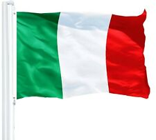 G128 - Italy Flag 3x5ft Printed with Brass Grommets on 150D Polyester Material