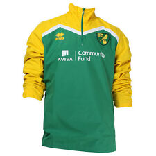 OFFICIAL NORWICH CITY FC 2016-17 PLAYER WORN TRAINING RAIN JACKET GREEN/YELLOW