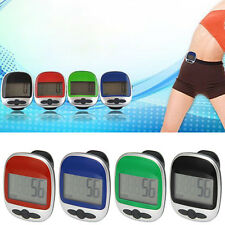 LCD Digital Pedometer Step Walking Distance Calorie Counter Run Calculation Clip