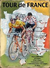 TOUR DE FRANCE BICYCLE CYCLE RACE CYCLIST CYCLING METAL SIGN PLAQUE WALL ART 480
