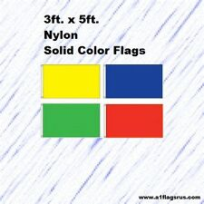 3x5ft Nylon Solid Color Flags