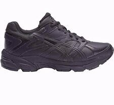 Asics Gel 190TR LEATHER JUNIOR CROSS TRAINING SHOES, BLACK-Size US 5, 6, 7 Or 13
