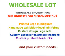 Wholesale enquiry to New Custom Lego minifigure, parts , weapon, accessories