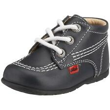 Kickers Kick Hi Baby Dark Navy Leather First Walkers Shoes