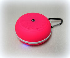 Portable Bluetooth Speaker Micro-SD Slot for Phones,Tablet-Pink Black-Gift Idea