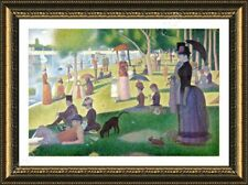 Alonline Art - FRAMED Poster Sunday Afternoon Georges Seurat Frame