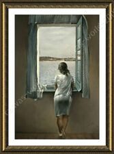 Alonline Art - FRAMED Poster Woman At The Window Salvador Dali For Home Decor