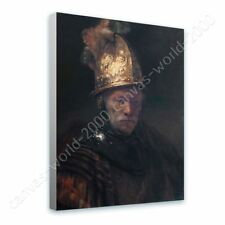 READY TO HANG CANVAS Man Golden Helmet Rembrandt Oil Painting Print