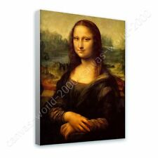 Alonline Art - READY TO HANG CANVAS Mona Lisa Leonardo Da Vinci Framed Decor