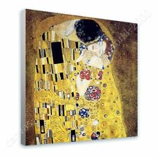 READY TO HANG CANVAS The Kiss Gustav Klimt Oil Paintings Prints Frame