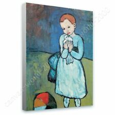 Alonline Art - READY TO HANG CANVAS Child With Dove Pablo Picasso Framed Art