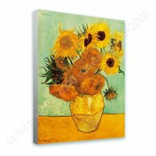READY TO HANG CANVAS Sunflowers Tournesols Vincent Van Gogh Framed Decor Giclee