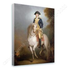READY TO HANG CANVAS George Washington On Horse Rembrandt Framed Decor Giclee
