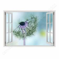 READY TO HANG CANVAS Dandelion Fake 3D Window Frame Oil Painting Print