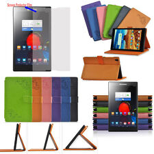 """Print PU Leather Folio Case Cover for 8"""" Lenovo S8 Tablet S8-50 + Screen Film"""