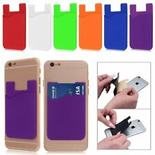 Adhesive Silicone Credit Card Pocket Money Pouch Holder Case For iPhone,Samsung