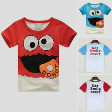 Kids Boys Summer Casual Tops Shirts Clothes Children Short Sleeve T-Shirt 2-8Y