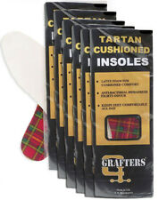 Grafters Mens Insoles for Shoes,Boots,Trainers in Tartan Latex Foam Qty 21 Pairs