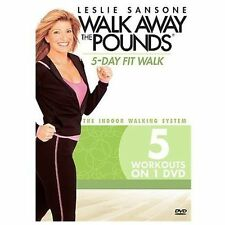 LESLIE SANSONE WALK AWAY THE POUNDS 5 DAY FIT WALK DVD NEW SEALED