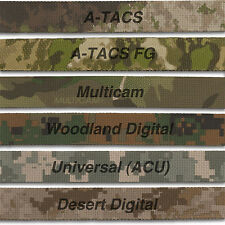 "Camo Webbing  Mil Spec 1"" Wide, 6 Variations, Double Sided Official Distributer"