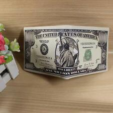 Creative 100 US Dollar Bill Money Bifold Pu Leather Wallet Card Holder Gift Hot