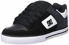 DC Pure SE Black White Leather Mens Skate Trainers Shoes