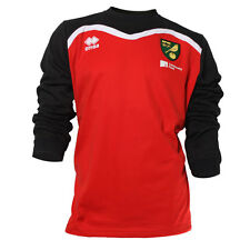 OFFICIAL NORWICH CITY FC 2016-17 PLAYER WORN TRAINING SWEATSHIRT RED/BLACK