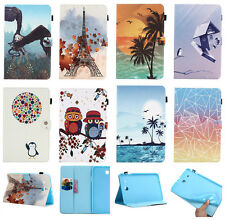 Magnet Flip Artificial Leather TPU Wallet Cover Case For Apple Samsung Tablet PC