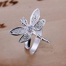 NEW Dragonfly 925 Silver Plated Ring Dragon Fly Band Wrap Jewelry Fashion Gift
