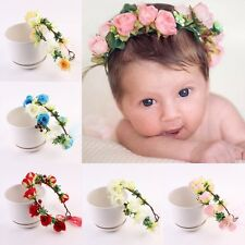 Children Toddler Baby Girl Lily Flower Garland Boho Hair Band Headband Head Band