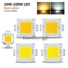 10X High Power LED Chip 10W 20W 30W 50W 100W DC 10V-32V Integrated Lamps  White