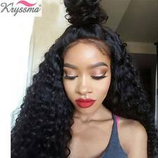 Curly Full Lace Wigs Human Hair Women's 6A Indian Remy Lace Front Wig Baby Hair
