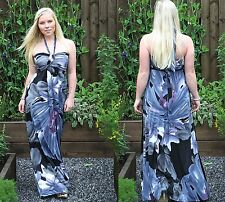 Long Summer Holiday Maxi Dress Party Halterneck Empire Style 115cm By MontyQ
