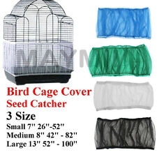 4Colors 3Sizes Seed Catcher Guard Mesh Bird Cage Cover Skirt Traps Debris E