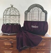 Hand Crafted Eggplant Fabric Bird Cage Skirt Seed Catcher Guard or Cover XS-XXL