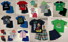 NWT Toddler Boys' 2 Piece Casual Active Wear SET - Tee Shirt & Shorts 3-6M to 4T
