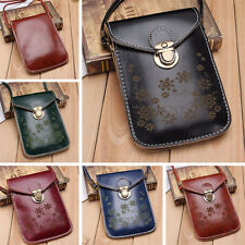 Women Retro Wallet Purse Leather Coin Cell Phone Mini Cross-body Shoulder Bag