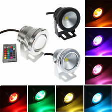 Waterproof 10W RGB Warm Cool Underwater LED Spot Light Flood Wash Lamp w/Remote