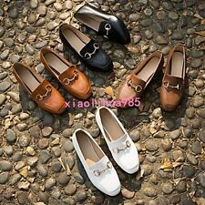 Lady Low Heels Slip On Loafers Leisure Comfort Spring New Euro Style Shoes Chic