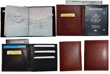 Passport cover. USA Leather wallet, Passport case. Genuine Leather case BR New