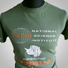 The Thing Outpost#31 Movie Themed Retro T Shirt Cool Cult Classic Horror Green