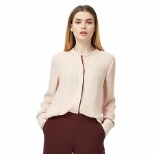 J By Jasper Conran Womens Pale Pink Piped Blouse From Debenhams